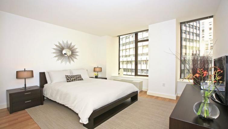 Bright bedroom at Hanover Square Apartments